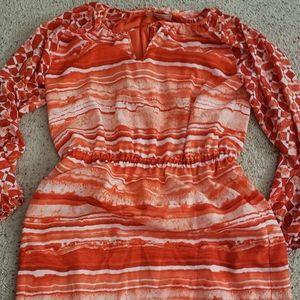 Michael Kors reddish orange print dress, 10.